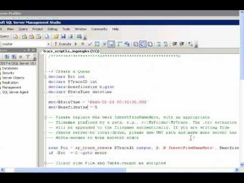 SQL Server Profiler - Trace Automation
