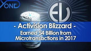 Activision Blizzard Earned $4 Billion from Microtransactions in 2017