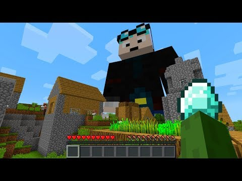 GIANT DANTDM APPEARS ON MY MINECRAFT WORLD (Minecraft YouTubers Mod)