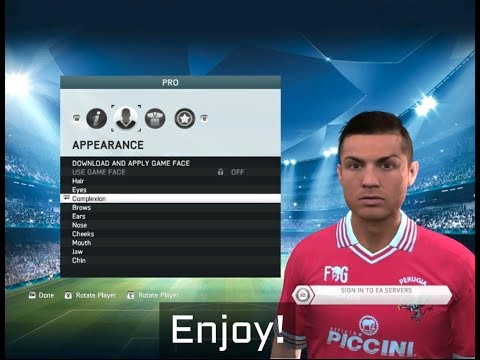 How to add face to your Player Career pro? (FIFA 14,15)