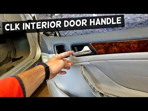 MERCEDES CLK W208 INTERIOR DOOR HANDLE REMOVAL REPLACEMENT