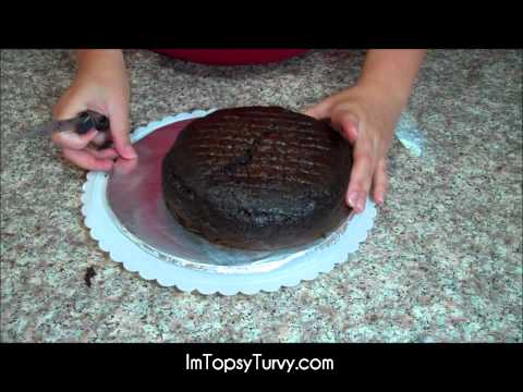 cake How to easily cut a cake layer to frost.wmv