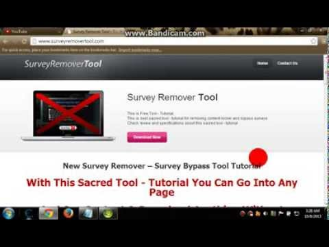 How to Bypass Surveys 8/10/2013 [No Download 100% Free] Easy
