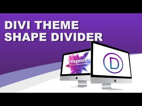NEW DIVI THEME FEATURE - Shape Dividers! A Must See!