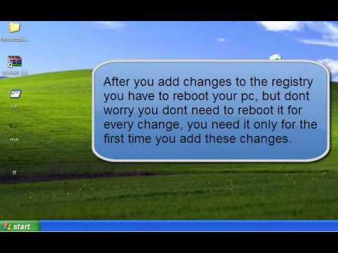 How to restrict specific application using registry in windows xp