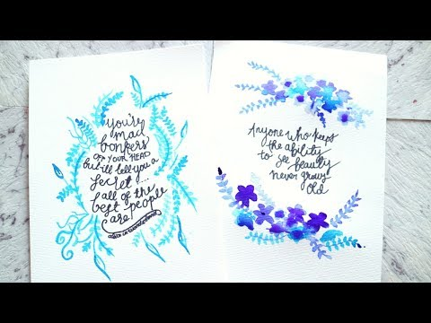 Watercolour Word Art