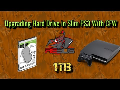 How To Upgrade PS3 Slim HDD And Reinstall Rebug CFW