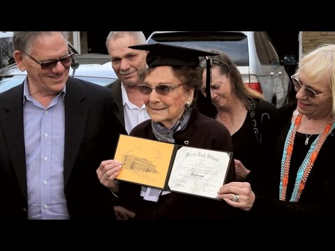 Great Grandma Receives Her High School Diploma
