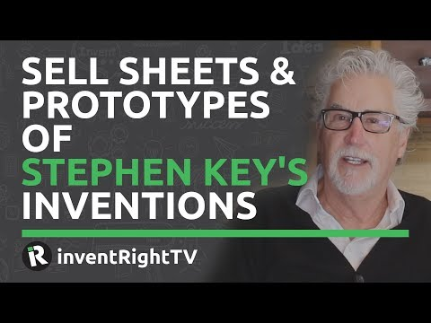 Sell Sheets & Prototypes of Stephen Key's Inventions