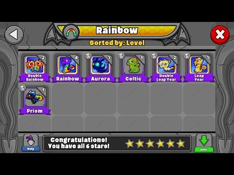 How to breed all the Rainbow dragons in Dragonvale!