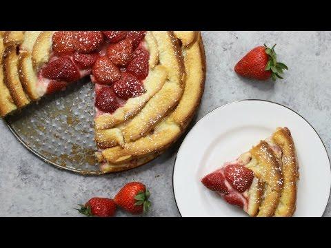 Strawberry Bread Pudding Cake