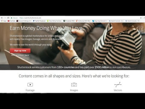 Earn Money By Selling Vector | Shutterstock Contributor