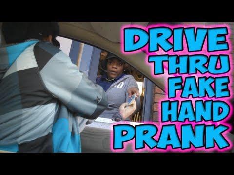 Drive Thru Fake Hand Prank