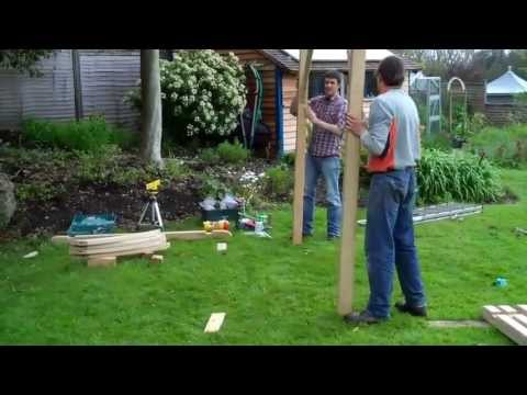 How to: Assemble our PERGOLA and hang a GARDEN SWING SEAT - video