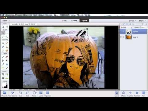 Create Halloween Pumpkin Art in Photoshop Elements 12