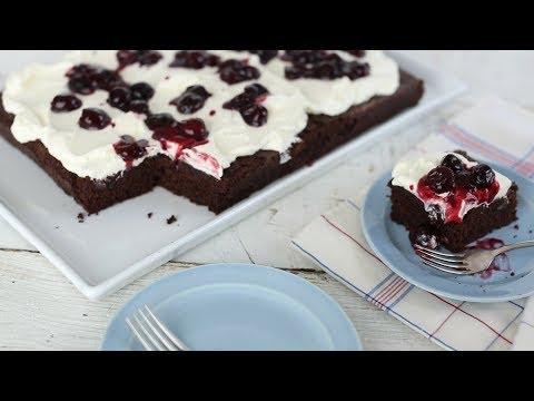 Dark Chocolate Cherry Cake - Everyday Food with Sarah Carey