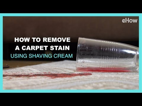 How to Remove a Carpet Stain with Shaving Cream | DIY IRL