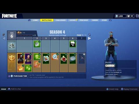 Fortnite Season 4 Battle Pass Content