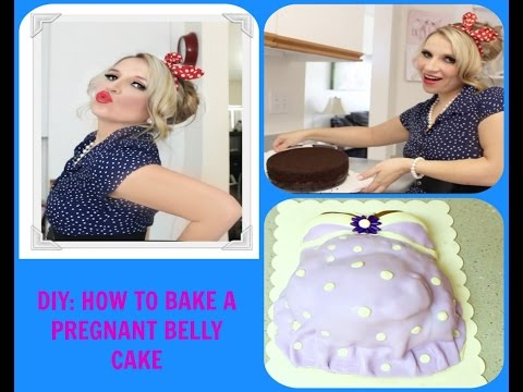 DIY: HOW TO BAKE A PREGNANT BELLY CAKE WITH BABY FOOT SHOWING THROUGH