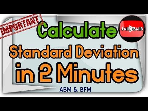 Standard Deviation, Variance in 2 minutes