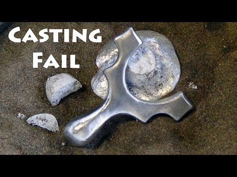Aluminum Casting Fail - How Not to Cast a Slingshot From Aluminium Cans