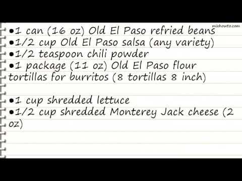 Recipe Refried Bean Roll-Ups