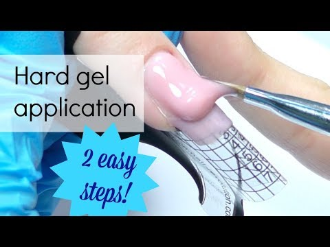 Hard gel application on forms for beginners