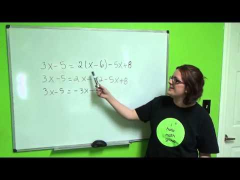 Tutorial Algebra 6 Equations