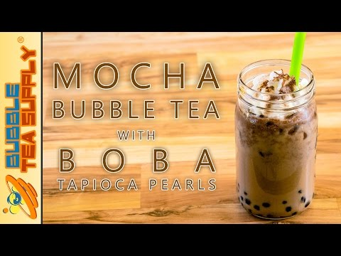 How to Make Mocha Bubble Tea with Boba Tapioca Pearls