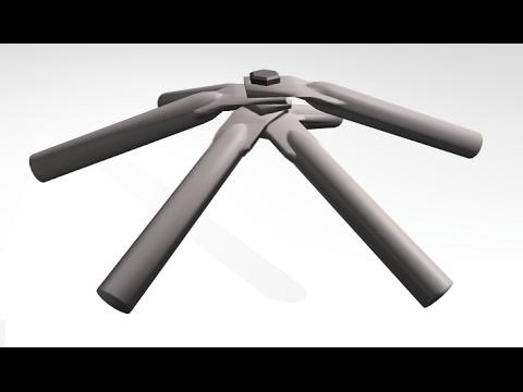 Dome build methods - flattened conduit