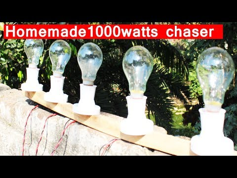 How to Make a 230v led chaser 1000 watts each channel DIY🔌