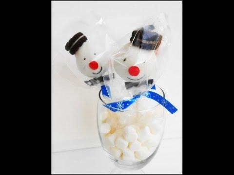 Kako narediti cake pops - snezeni moz (Snowmen cake pops)