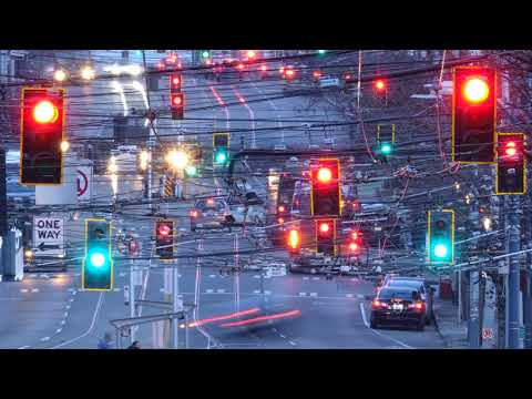 DOWNTOWN SEATTLE TRAFFIC LIGHTS TIME LAPSE