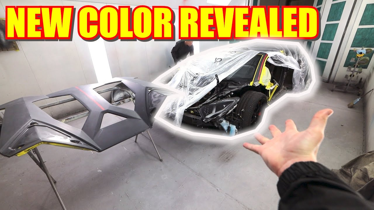 Aventador Widebody Arrives for PAINT!!