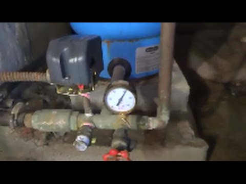 residential well tank with issues fixed