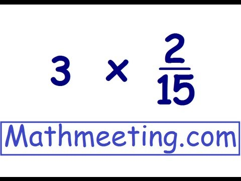 Multiplying Fractions 2