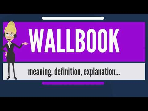What is WALLBOOK? What does WALLBOOK mean? WALLBOOK meaning, definition & explanation