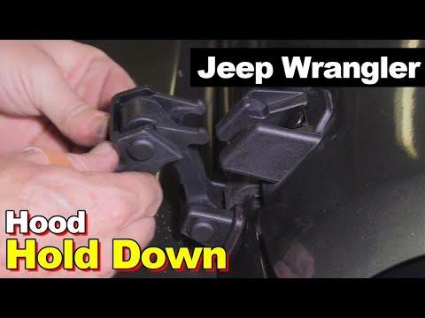 2007-2017 Jeep Wrangler JK Hood Hold Down Plastic Rubber Latch Kit