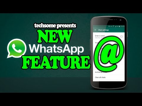 New Whatsapp Feature - Mention an Individual in a Group Chat