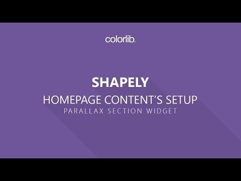 How to Setup Parallax Section On Shapely WordPress Theme [Homepage Setup]