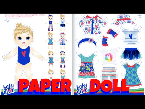 👗Baby Alive Paper Doll Craft! DIY Paper Doll Clothes! Baby Alive Kids Activities on Hasbro Website.
