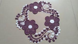 Beautiful and innovative rangoli design by Jyoti Raut Rangoli