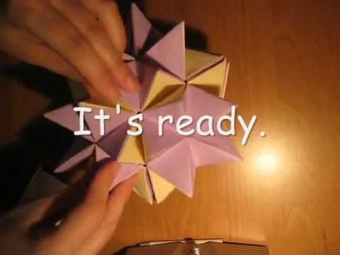 Origami revealed flower ball - tutorial