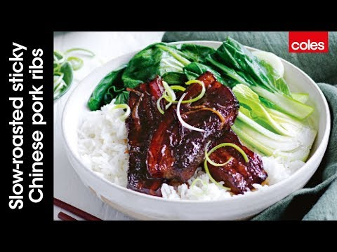 Slow-roasted sticky Chinese pork ribs with Sarah Hobbs