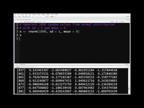 R Programming - Generate random values from normal distribution
