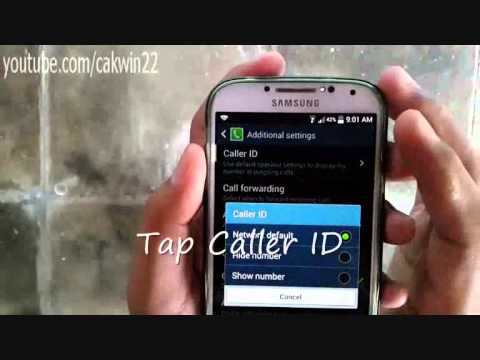 How to Turn On or Off Caller Identification on Samsung Galaxy S4