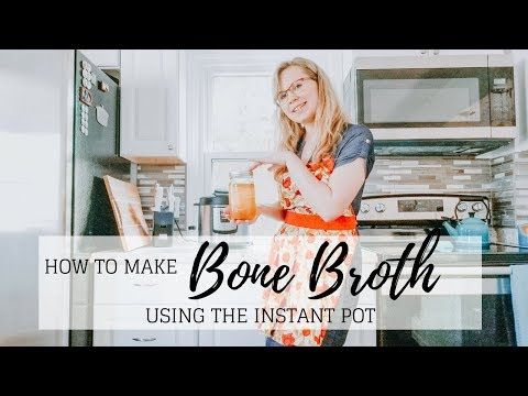 How To Make Bone Broth In the INSTANT POT | Jacqueline Wheeler