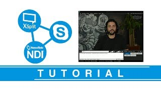How to use Skype NDI with Xsplit Broadcaster, OBS Studio