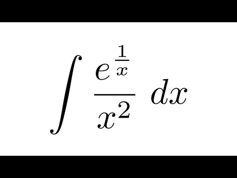 Integral of e^(1/x)/x^2 (substitution)