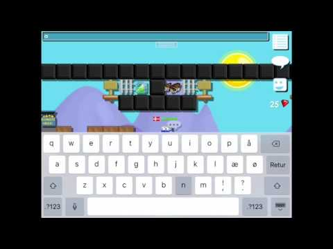 How to make color text on iPad/iphone growtopia
